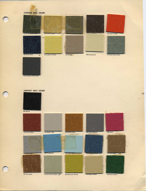 Eames Fiberglass Chair Colors 1962 Page From Herman Miller Flickr Photo Sharing