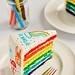 Rainbow Doodle Birthday Cake Sliced by Sweetapolita