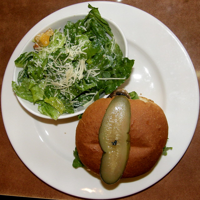 burger and Caesar salad #6691 | Flickr - Photo Sharing!