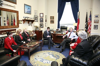 North Carolina delegation meets with Congressman Walter Jones.