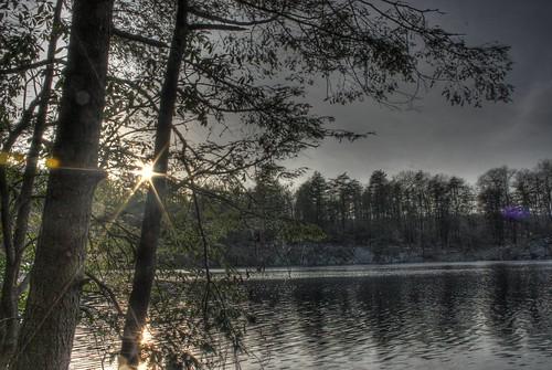 sunset lake newyork hdr putnamcounty fahnestockstatepark peltonpond