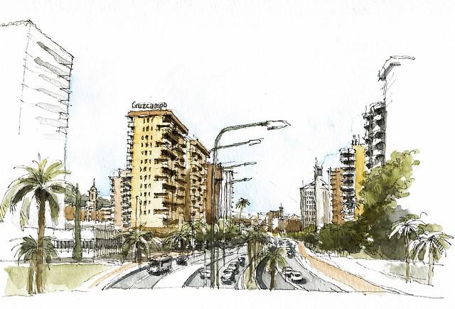 Urban sketchers spain el mundo dibujo a dibujo abril 2011 - El mundo andalucia malaga ...