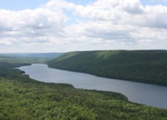 empirestatefuture posted a photo:	Canadice, the smallest of the Finger Lakes, has been protected from development for over a century, as it is a source of water for the City of Rochester. Thus, it looks today much like it did hundreds of years ago.