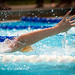 Small photo of Young girl swimming
