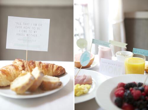 Café da manhã de Dia das Mães