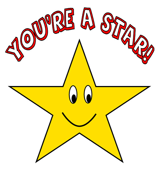 Amazing Great Job: You're A Star Clipart Sketch , Lge 15 Cm