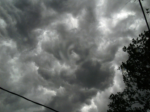 Swirly Clouds Overhead