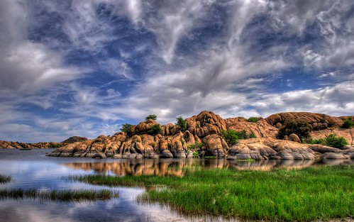 arizona sky lake reflection water rock clouds photography michael photo photos pics pic boulder wilson hdr prescott willowlake michaelwilson azh michaelwilsoncom