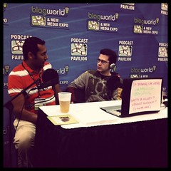 Chris Pirillo interviewing at #BWENY Podcasting Pavilion.