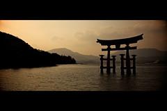 Shrine in the sunset.