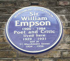 Photo of William Empson blue plaque