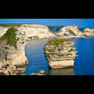 Rugged coastline of Bonifacio