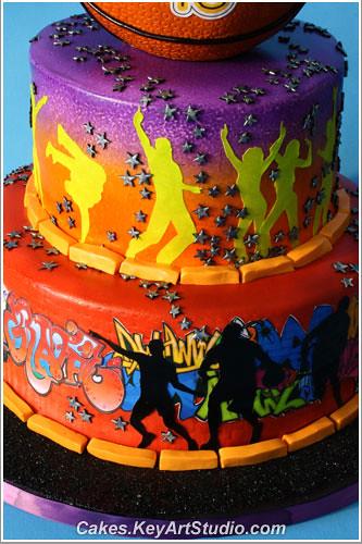 Street Fun Cake - Rap, Hip Hop, Basketball, graffiti | Flickr - Photo Sharing!