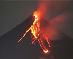 bonfire(0.0), lava(1.0), volcanic landform(1.0),