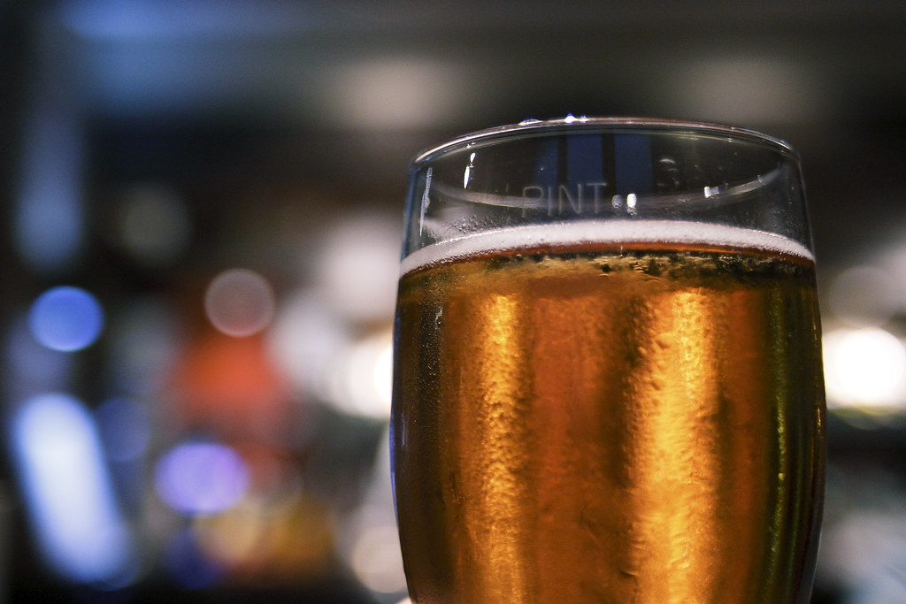 Day 249 (175) - Boozy beer and blurry bar bokeh