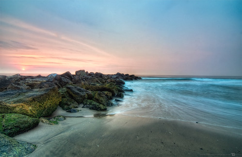 new beach sunrise landscape nikon shore jersey hdr d90