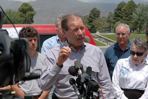 Senator Tom Udall (D-NM) at news conference, Los Alamos, June 30, 2011