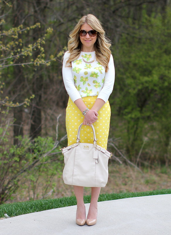 Yellow Polka Dot Skirt