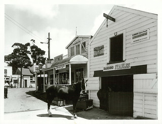 Museums Publicity Caption: Stables, Pioneer Village, M.O.T.A.T. Museum, Auckland.