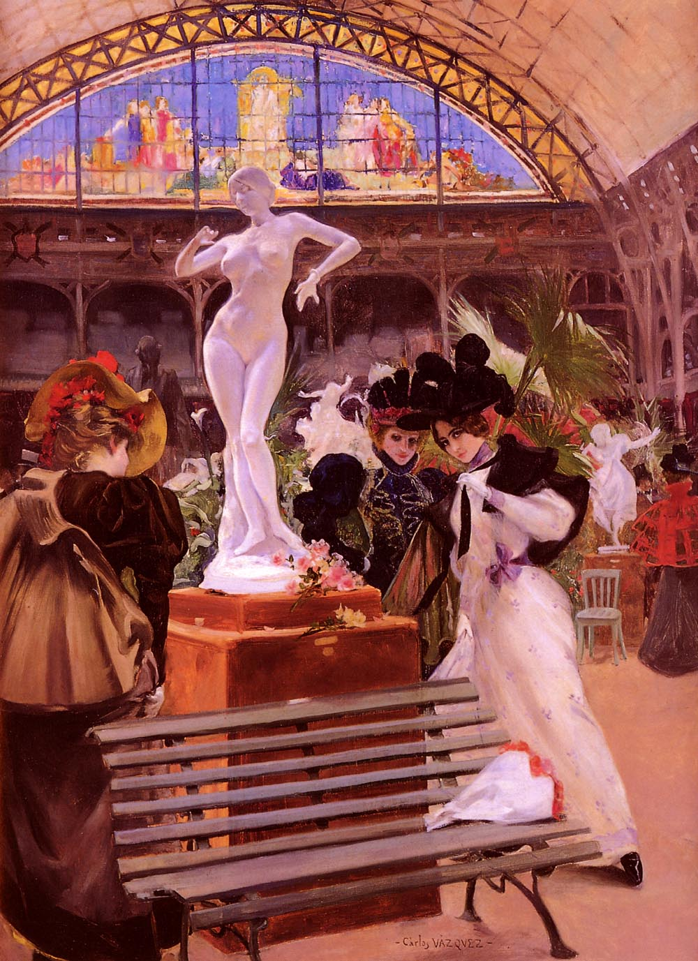 Cleo De Merode at the Salon by Carlos Vazquez Ubeda (1869 - 1944)