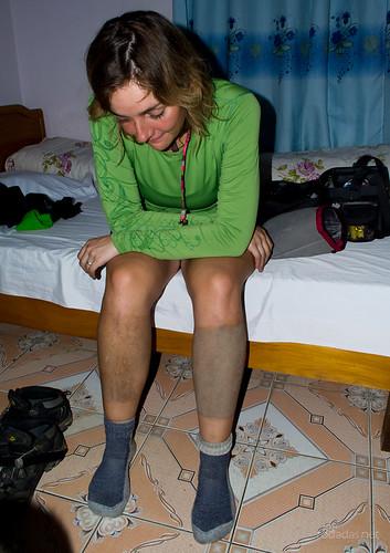 Así se te quedan las piernas después de un día de lluvia
