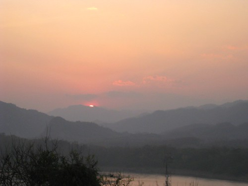 sunset behind the mekong
