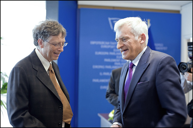 President Jerzy Buzek Meets Bill Gates In The Protocol Room Of The Ep Flickr Photo Sharing