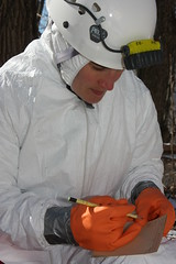 personal protective equipment, clothing, hazmat suit, person,