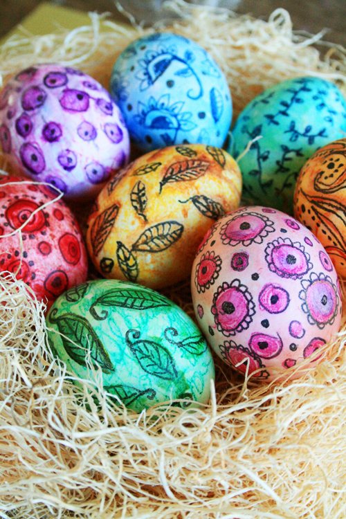 Alisaburke Watercolor Easter Eggs