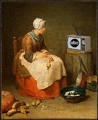 Soap Opera in the Kitchen, after Jean-Baptiste-Siméon Chardin