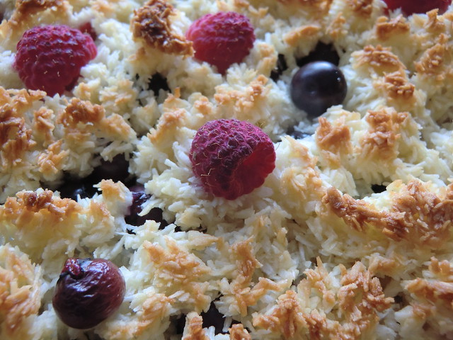 Blackberry And Coconut Macaroon Tart Recipe — Dishmaps