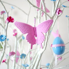 Butterfly hanging on my Easter Tree
