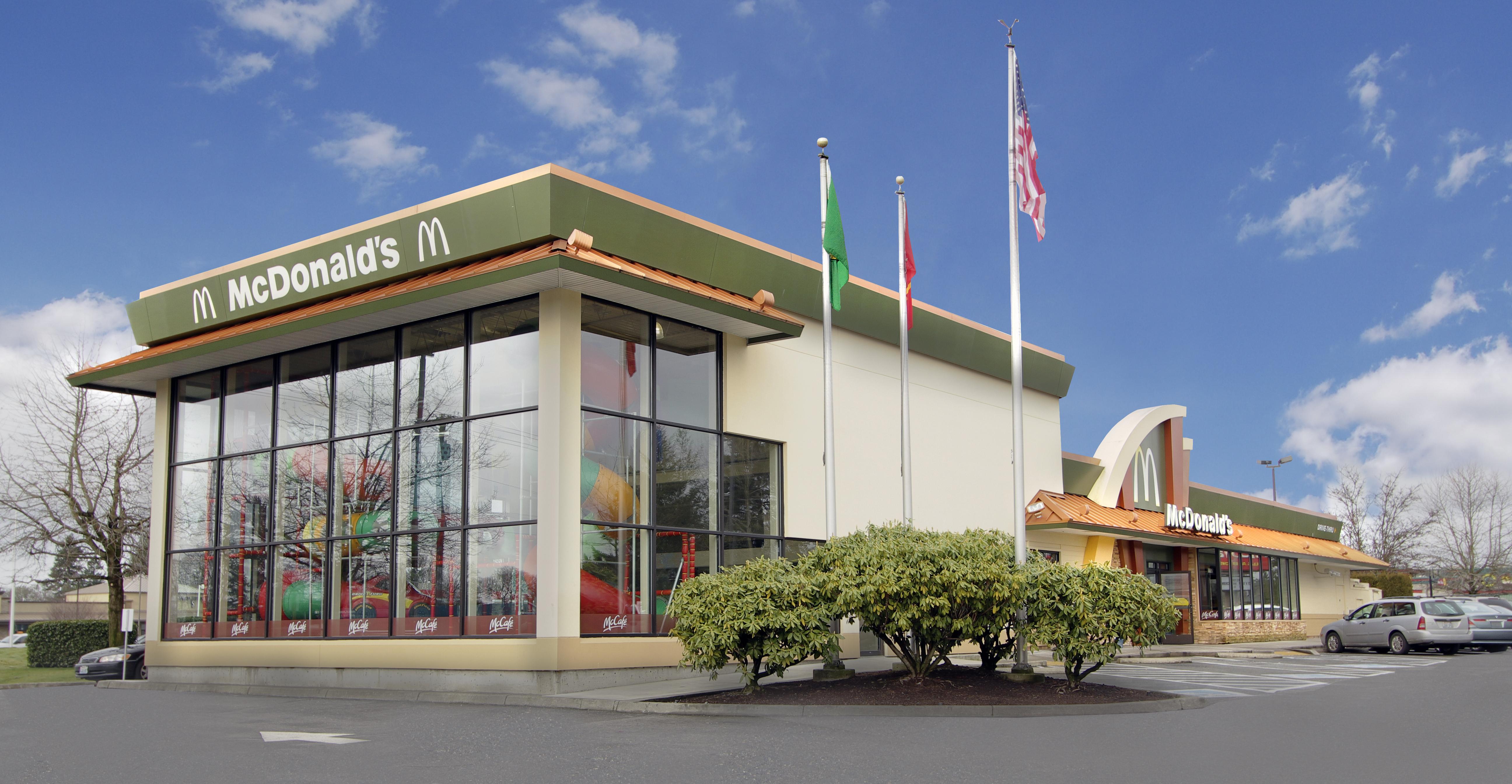 Exterior restaurant upgrade franchise exterior upgrade for Mcdonalds exterior design
