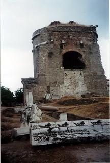 Image of Pergamon near Bergama. 2001 trip brick turkey geotagged roman basilica ruin pergamon bergama geo:lat=39122256105615556 geo:lon=27183427119396242