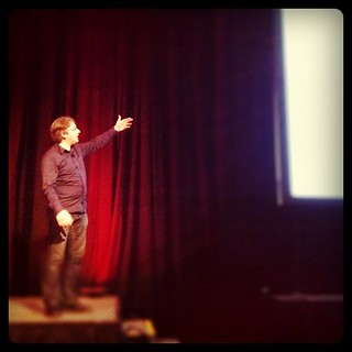 """Behold, I give you HTML5!!!"" @adactio at #AEA"