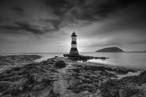 'The Storm That Almost Was... in B&W' - Black Point, Anglesey