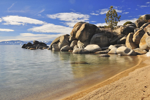 Chimney Beach, East Shore Lake Tahoe, NV.