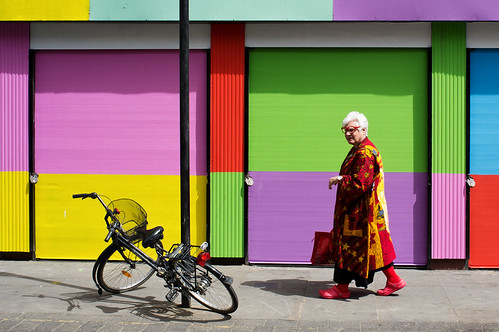 colourful woman