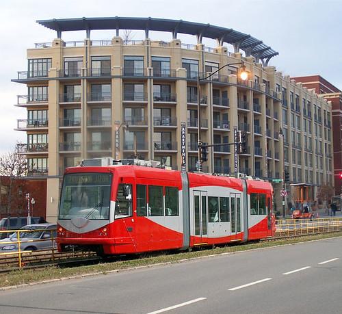 Image simulation, streetcar, Georgia Avenue NW
