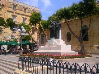 Square in Valletta, Malta