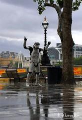 A Happy Storm Trooper Dancing in the Rain