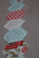 bliss hexies tea towel