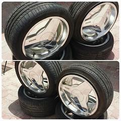 #For#Sale#Used#Parts#BRABUS#Chrome#MonoblockII#Wheels#Rims#18inch#alyehliparts#alyehli#UAE#AbuDhabi#AlFalah#City                              Set Of Chrome BRABUS Monoblock II - 18 ' Four Wheels Size : 9.5Jx18 H2 ET26 Bolt Pattern : 5x112  Price :    700
