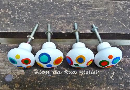 Puxadores coloridos