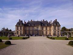 Château de La Motte-Tilly and cars, France
