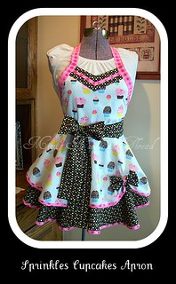 Sprinkles and cupcakes apron