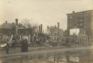 West Fifth and Wilkinson Streets, Dayton, OH - 1913 Flood