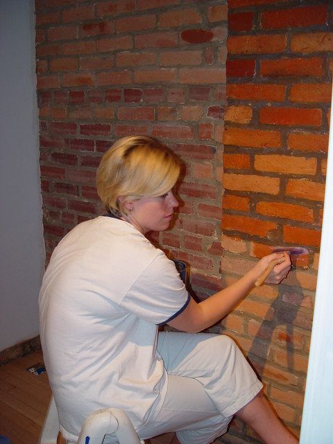 Creating Our Home Office Part 3 Exposed Brick Treatment Old Town Home