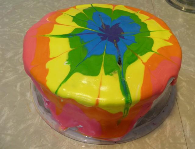 Rainbow Swirl Cake Icing