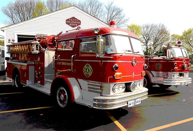 Old Mack Fire Trucks : Antique mack fire trucks at the east greenwich veteran